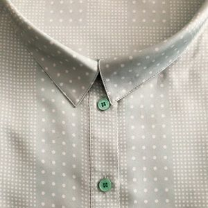 Mint dotted silk blouse
